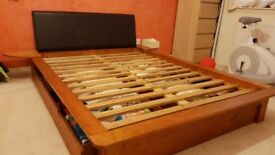 Double bed with storage for sale