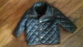 Baby boy green jacket - age 3-6 months