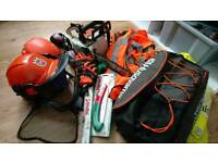 Chainsaw and ppe, safety hats + more!!