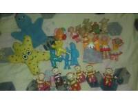 Big bundle of small in the night garden figures/figurines/toys - iggle piggle, upsy daisy...