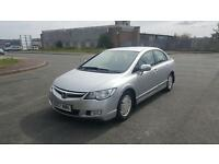 Honda Civic Hybrid 2007 1.3 Automatic 4 door saloon 1 year MOT drives excellent full service history