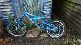 childs striker suspension bike