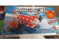 MAGNEXT RESCUE PLANE by MEGA Blocks Complete set Magnetic Building System age 6+