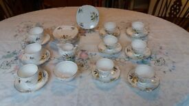 Colclough vintage bone china tea set Stardust (6791) pattern
