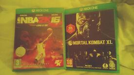 Mortal Combat X & 2k16 Xbox one.