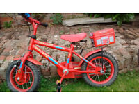 "Apollo Fire Chief, 9"" frame childrens bike, good condition, Good starter bike."