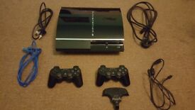 Excellent condition 60GB PS3 (Rare model CECHC03 - backwards compatible!) + 2 controllers+all cables