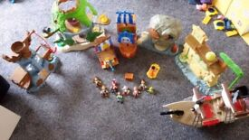Lots of Jake and the Neverland Pirates Playsets