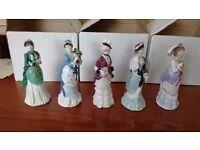 Coalport English Bone China Figurines