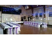 Wedding chair covers and venue Decorations