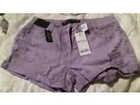 Ladies next size 12 petite shorts bnwt