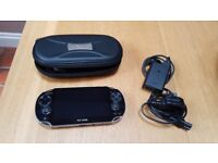 SOLD - Sony PS vita games console with case & 2 games