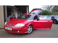 Hyundai Coupe prtoject. 11 month MOT. K&N air + Double Scorpion Exhaust sytem + remaped to 162bph