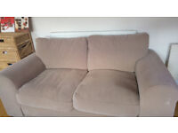 2 seater sofa in mink/taupe colour