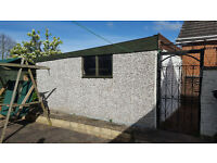 Sectional Concrete garage with up and over door. Buyer to dismantle and collect.