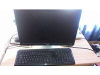 Monitor & Wireless Keyboard