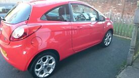Red Ford Ka 1.2 Zetec, Oct 2015 reg, New MOT! Full service history