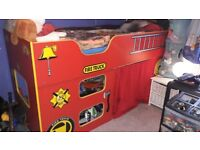 Fire Engine Cabin Bed excellent condition