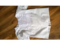 HIGHLAND DANCE DANCING WHITE BLOUSE TOP SHIRT COMPETITION OUTFIT can post VGC