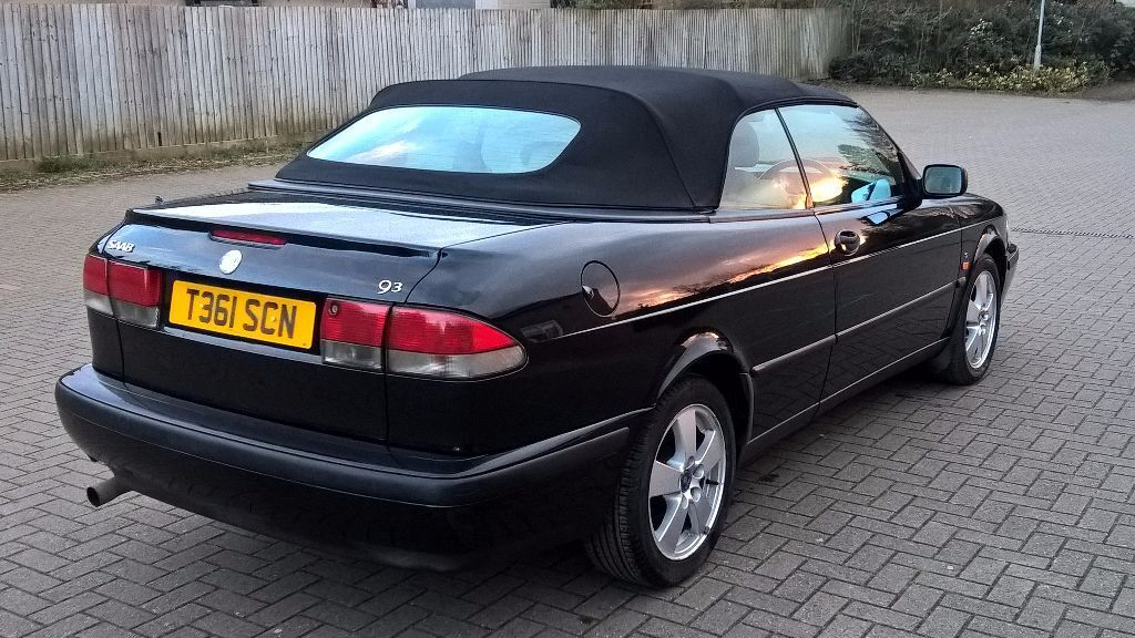 saab 9 3 se convertible 2 0l black 1999 mot till 1 5 2017 in banbury oxfordshire gumtree. Black Bedroom Furniture Sets. Home Design Ideas