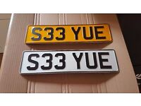 Cherished Private Number Plate, SEE YOU, Fast, GTR, Race, MONEY, Gone