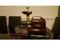 Matstone Burgandy 6 in 1 masticating Juicer