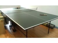 Butterfly Easifold Table Tennis Table Full Size, complete with net, folds vertical for storage