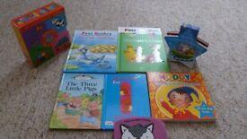 Books The Ugly Duckling, Chicken-Licken, Three Little Pigs, Noddy