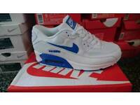 BRAND NEW BOXED NIKE AIR MAX 90'S WHITE/BLUE