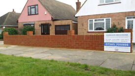**Bricklayer available Southend, Leigh and surrounding area garden walls to extensions**