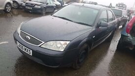 2006 FORD MONDEO LX, 2LT TDCI, BREAKING FOR PARTS ONLY, POSTAGE AVAILABLE NATIONWIDE