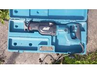 110v makita reciprocating saw variable speed model. Used only a couple of times