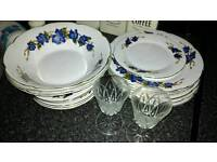 China dinner set and glass