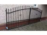 driveway gate ,entrance gate,fence panels,posts and bracket