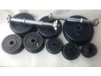52kgs of York iron weights plus bars