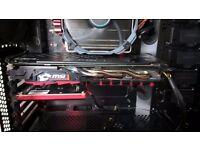 MSI AMD Radeon RX 480 GAMING X 8GB GDDR5 Dual-Link DVI-D HDMI 2x DisplayPort PCI-E Graphics Card