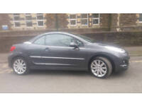 2011 PEUGEOT 207 CC GT 1.6 HDi MET GREY,FULL LEATHER,6 SPEED,HIGH SPEC,2 OWNERNICE CAR,GREAT VALUE