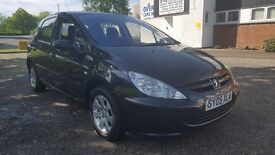 PEUGEOT 307 DIESEL 1.6 HDi 5 DOOR, 70,000 MILES WITH SERVICE HISTORY, MOT MAY 2018 (no advisories)
