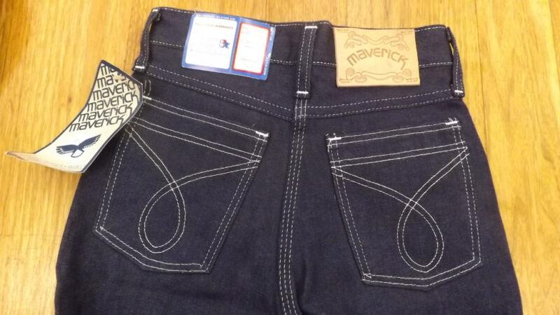 VTG Girls Maverick Blue Bell Denim Blue Jeans 10 Slim NOS USA Made 23.5 x 28