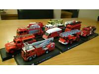 Collection of die-cast fire engines