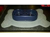 cat bowl and non slip mat