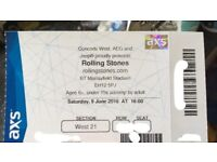 The Rolling Stones 2x tickets for BT Murrayfield 09/06/2018