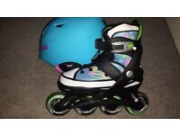 girls adjustable inline skates size 10.5- 1 (29-33)