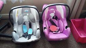 2 TINY TATTY CAR SEATS