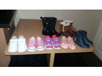 Size 8 girls bundle of shoes/ boots