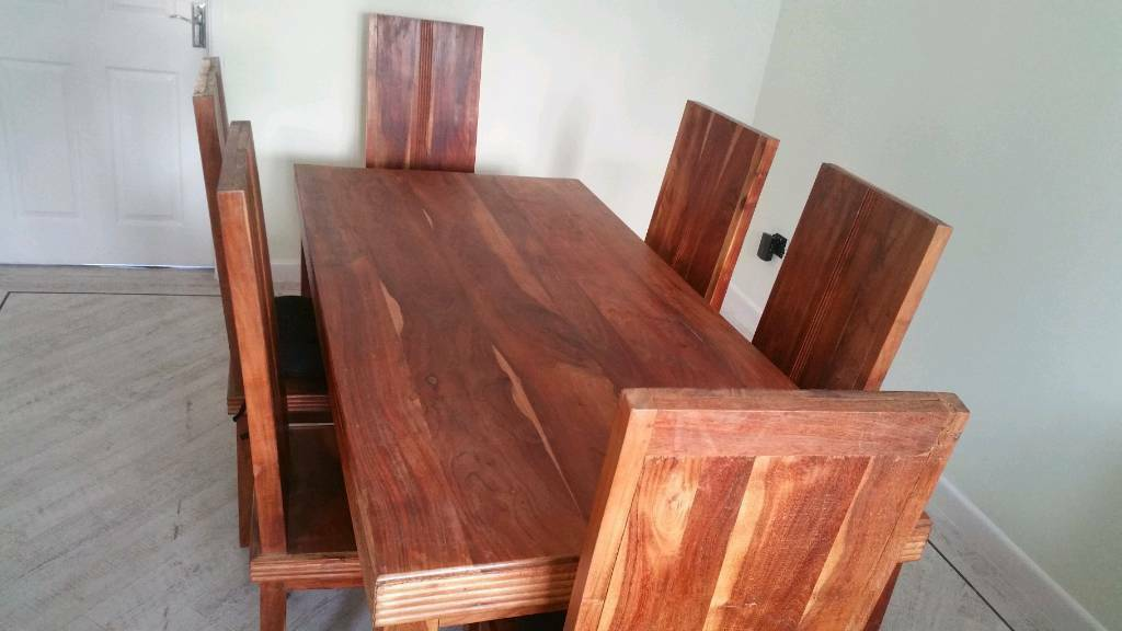 Hardwood Dining Table With Six Chairs Quick Sale Hull