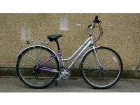 "Ladies Hybrid bike 15"" town bicycle with 21 gears claud butler"