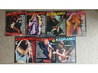 Kerrang magazine x 7 early issues