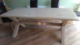 Large Solid Oak New Dining Table