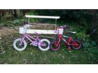 Childs 14 inch bike with basket and bell